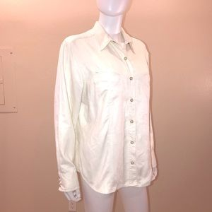 Columbia Faux Suede Pearl Snap Shirt Long Sleeve